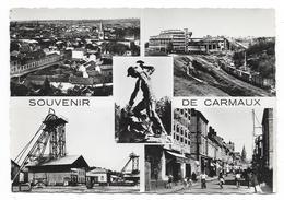 Cpsm: 81 Souvenir De CARMAUX (ar. Albi) Multivues (Puits De La Tronquié, Les Laveries, Le Mineur) N° 1 - Carmaux