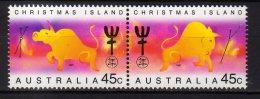 1997 Christmas Islands -Chinese Zodiac - Year Of OX 1997 2v  - MNH** MI 427/428 (hj16.1) - Christmas Island