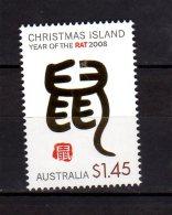 2008 Christmas Islands -Chinese Zodiac - Year Of Rat - Chinese Symbol For Rat    - MNH** MI 616 (hj16.1) - Christmas Island
