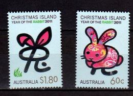 2011 Christmas Islands -Chinese Zodiac - Year Of Rabbit 2011 2v  - MNH** MI 689/690 (hj16.1) - Christmas Island