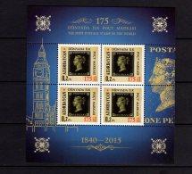 2015 Azerbaijan- 175 Years Of Black Penny - First Stam - MS  - Paper - MNH** MI B 154 - Azerbaïjan
