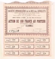 Ancienne Action - Société Immobilière De La Rue Des Annelets - Banque & Assurance