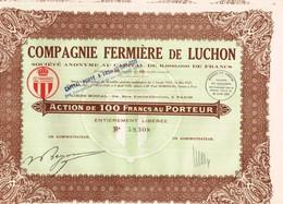 Ancienne Action - Compagnie Fermière De Luchon  - Titre De 1929 - Landbouw