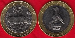 Zimbabwe 5 Dollars 2002 Km#13 BiMetallic UNC - Zimbabwe