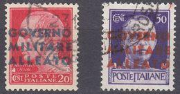 NAPOLI, OCCUPAZIONE INTERALLEATA - 1943 - Lotto Due Valori Usati: Yvert 10 E 12. - Occup. Anglo-americana: Napoli