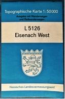 Topographische Karte / Wanderkarte  -  Eisenach West L 5126  -  Ca. 59,5 X 56,5 Cm  -  1989 - Topographische Karten