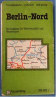 Touristenkarte / Strassenkarte  -  Berlin Nord  -  Ca. 96 X 64 Cm  -  1:100.000  -  1983 - Strassenkarten