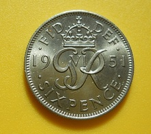 Great Britain 6 Pence 1951 - 1902-1971: Postviktorianische Münzen