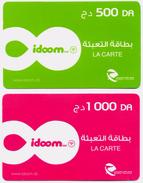 2 CARTES RECHARGE INTERNET RECHARGE CARD Karten Aufladen RECARGA TARJETA Utilisée / Used - Algérie