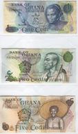 GHANA 13-15 1972-1977 1-5 Cedis UNC - Ghana