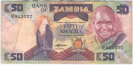 ZAMBIA 28a 1986-88 50 Kwacha Used Good-Very Good - Sambia