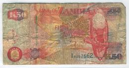 ZAMBIA 37a 1992 50 Kwacha Used Fair - Sambia