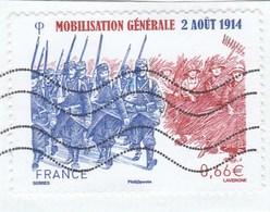 FRANCE 2014 MOBILISATION GENERALE OBLITERE YT 4889 -                                 TDA268 - France