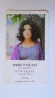 AV451.21 Marie Josée Nat - Calendrier De Poche  - Hongrie  -Pocket Calendar  -Hungary  1982 Cinema - Calendars