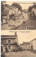 88 VIMENIL LES CREUSES LE VILLAGE 1939 CPA 2 SCANS - France