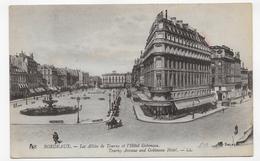 BORDEAUX - N° 118 - LES ALLEES DE TOURNY ET L' HOTEL GOBINEAU - LEGER PLI - CPA NON VOYAGEE - Bordeaux