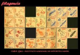 CUBA MINT. 1962-09 INSTITUTO NACIONAL DEL DEPORTE INDER - Cuba