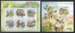 Mocambique 2011**, Sukkulenten Und Reptilien, Kaktus / Mocambique 2011, MNH, Succulents And Reptiles, Cactus - Sukkulenten