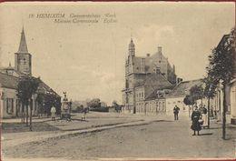 Hemixem Hemiksem Gemeentehuis Kerk Geanimeerd ZELDZAAM 1923 - Hemiksem