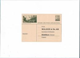 WALDER & Co. AG Carte Postale De Commande Publicitaire Schuhfabrik Brüttisellen DIETLIKON - Suisse