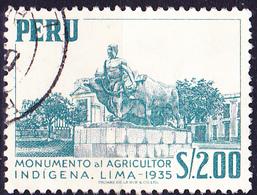 Peru - Denkmal Der Eingeborenen-Landwirtschaft, Lima (MiNr: 530) 1953 - Gest Used Obl - Peru