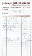 Ancienne Facture De L'Auberge Albert Marie Sternjacob, Rue Nationale, Rosbruck (11/4/1976) - Sports & Tourisme