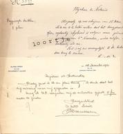 Brief Lettre Notaris Alfred Dirix - Zwijndrecht Anvers Antwerpen - 1921 - Unclassified