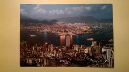 CARTOLINA POSTCARD NUOVA HONG KONG VEDUTA AEREA - Cina (Hong Kong)