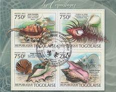 Togolise  2012  Sheels  Conch  Marine Creatures  4v  Cto Used  Sheet     # 74620 - Coneshells