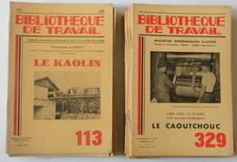 Lot De 37 Revues Bibliothèque De Travail - Histoire - 1948 à 1974 - 23 X 15,5 Cm - Boeken, Tijdschriften, Stripverhalen