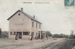 CPA : Bonnétable (72)  Gare Des Tramways     Couleur    édit Kastel - Bonnetable