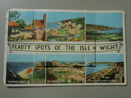 ANGLETERRE ISLE OF WIGHT CARTE A SYSTEME  AVEC 10 PHOTOS - Angleterre