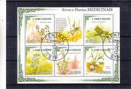 Saint Thomé & Principe - Michel BF 732 Oblitéré De 2009 - Plantes Medicinales - - Plantes Médicinales