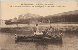 """Boulogne Sur Mer : Le Remorqueur """"Jenner"""" De La Société De Remorquage - Boulogne Sur Mer"""