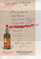 24 - PERIGUEUX - MENU E. REQUIER LE VERRE DE GAULOISE- LIQUEUR DIGESTIVE - 10 SEPTEMBRE 1950 - Menus