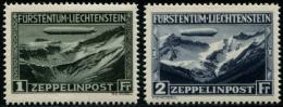 Lot N°6498a Liechtenstein PA N°7/8 Neuf * TB - Poste Aérienne