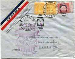 """ETATS-UNIS LETTRE AVEC CACHET ILLUSTRE """"LAKEHURST;;;;HINDENBURG FIRST FLIGHT..."""" DEPART NEW YORK MAY 11 1936 POUR LA.... - 1c. 1918-1940 Covers"""