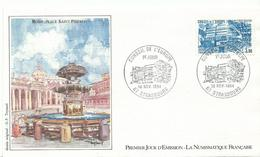 Envelope 1er Jour1984  Conseil De L'europe  67 Strasbourg  Rome Place St Pierre - France
