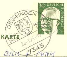4268  Eléphant, Blason: Oblitération D'Allemagne, 1973  -  Elephant On Coat Of Arms From Deggingen, Germany - Elefanten