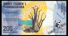 MADAGASCAR 200 ARIARY ND(2017) Pick 98 Unc - Madagascar