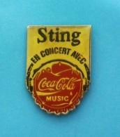 1 PIN'S //   ** STING / EN CONCERT AVEC / COCA COLA MUSIC ** . (LTO Paris) - Celebrities