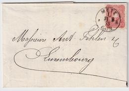 Luxemb. 1875, DR Nach Luxemburg , #8993 - 1859-1880 Stemmi