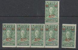 Belgisch Congo 1931  Stanley  40c Ovptd On 35c (cat. 162) 6x ** Mnh (38943) - Belgisch-Kongo