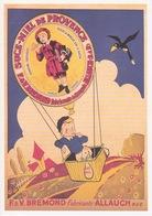 Carte Postale PUB - ANCIENNE AFFICHE - FABRICANTS DE NOUGATS ALLAUCH MIEL DE PROVENCE BONBONS F& V BREMOND - Publicité