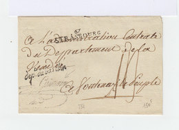 Enveloppe Avec Marque Postale Strasbourg. Département Du Bas Rhin Et Griffe. (505) - 1701-1800: Précurseurs XVIII