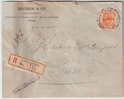 Rumänien, 1895, 50 B. , Zentrisch Gestempelt, Reko!  , #8999 - Covers & Documents