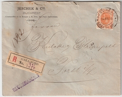 Rumänien, 1895, 50 B. , Zentrisch Gestempelt, Reko!  , #8999 - 1881-1918: Charles I