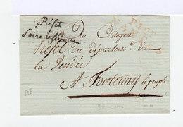 Enveloppe Avec Marque Postale Nantes. Envoyée Par Le Préfet De Loire Inférieure. (506) - Marcophilie (Lettres)