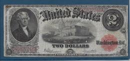Etats Unis - 2 Dollars - 1917 - Pick N°188 - TB - Large Size - Grande Taille (...-1928)