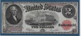 Etats Unis - 2 Dollars - 1917 - Pick N°188 - B/TB - Large Size (...-1928)